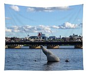 Charles River Boston Ma Crossing The Charles Citgo Sign Mass Ave Bridge Tapestry