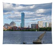 Charles River Boston Ma Crossing The Charles Tapestry