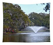 Charles Towne Landing Fountain Tapestry