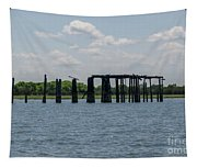 Charleston Export Coal Terminal Wooden Testle Tapestry