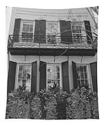 Charleston Style Home Black And White Tapestry