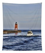 Charlevoix South Pier Light Tapestry