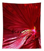Charlotte Beach Red Hibiscus Tapestry