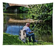 Chartres, France, A Good Day Fishing Tapestry
