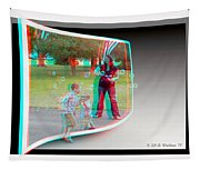 Chasing Bubbles - Use Red-cyan 3d Glasses Tapestry