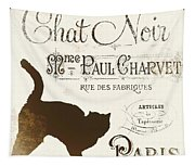 Chat Noir Paris Tapestry