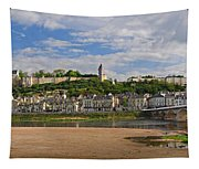 Chateau De Chinon Panorama Tapestry