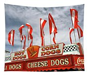 Cheese Dogs Galore Tapestry