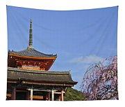 Cherry Blossoms And Kiyomizu-dera Tapestry