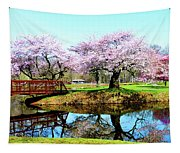 Cherry Trees In The Park Tapestry