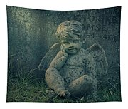 Cherub Lost In Thoughts Tapestry