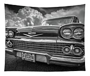 Chevrolet Biscayne 1958 In Black And White Tapestry