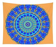 Chevrons Mandala Tapestry