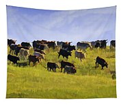 Cheyenne Cattle Roundup Tapestry