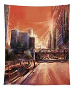 Chicaco Street 3 Tapestry
