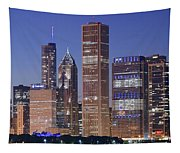 Chicago 2018 Blue Hour Tapestry