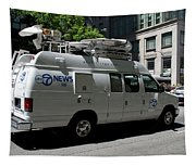 Chicago Abc 7 News Truck Tapestry