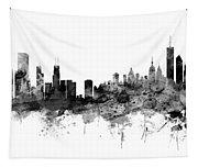 Chicago And New York City Skylines Mashup Tapestry