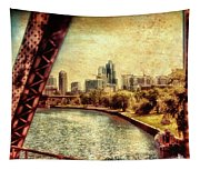 Chicago Approaching The City In June Textured Tapestry