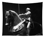 Chicago Art Institute Armored Knight And Horse Bw 01 Tapestry