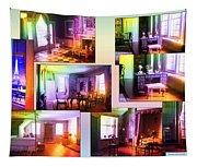 Chicago Art Institute Miniature Rooms Prismatic Collage Tapestry