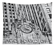 Chicago Board Of Trade Bw Tapestry