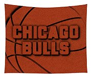 Chicago Bulls Leather Art Tapestry