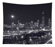 Chicago By Night Tapestry