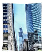 Chicago Concrete Canyons Tapestry