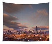Chicago Dusk Tapestry