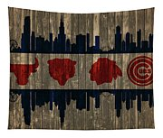 Chicago Flag Barn Door Tapestry
