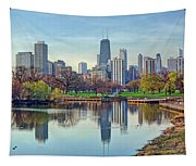 Chicago From Lincoln Park Tapestry