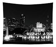 Chicago Grant Park Grayscale Tapestry