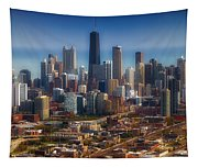 Chicago Looking East 01 Tapestry