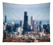 Chicago Looking East 02 Tapestry