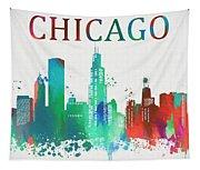 Chicago Paint Splatter Tapestry