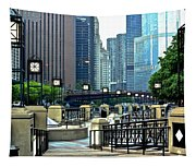 Chicago River Walk Invites You Tapestry