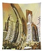 Chicago Skyline Tapestry