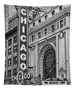 Chicago Theatre Bw Tapestry
