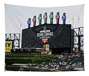 Chicago White Sox Home Coming Weekend Scoreboard Tapestry