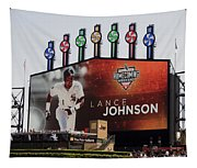 Chicago White Sox Lance Johnson Scoreboard Tapestry