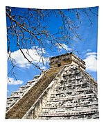 Chichen Itza And Tree Tapestry