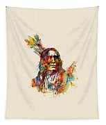 Chief Mojo Watercolor Tapestry