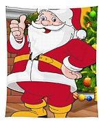 Chiefs Santa Claus Tapestry