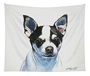 Chihuahua Black Spots With White Tapestry