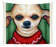 Chihuahua In Red Sweater - Boss Dog Tapestry