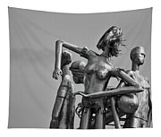 Children At Play Statue B W Tapestry