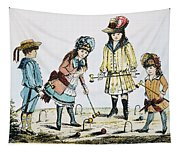 Children Playing Croquet Tapestry