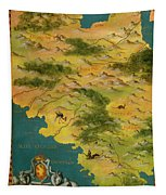 Chile And Argentina With The Magellan Strait Tapestry