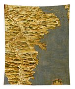 Chile And Argentina With The Strait Of Magellan Tapestry
